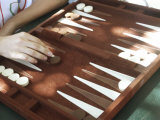 Backgammon Photographic Print