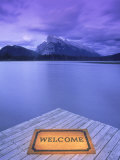 Welcome Mat on Dock, Alberta Photographic Print by Kevin Law
