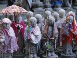 Jizo Statues, Hasedera Temple, Kamakura, Japan Photographic Print