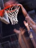Human Hands with a Basketball Hoop Photographic Print