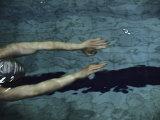 Swimmer in a Pool Lámina fotográfica
