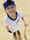 High Angle View of a Boy From a Little League Baseball Team Photographic Print