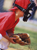 Child Playing Baseball Photographic Print