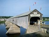 Hartland Bridge, New Brunswick, Canada Photographic Print