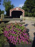 Kreidersville Covered Bridge, Northampton County, Pennsylvania, USA Photographic Print