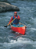 Man in Canoe on Tayler River Photographic Print by Paul Gallaher