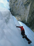 Low Angle View of an Ice Climber Photographic Print