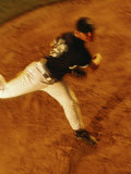 High Angle View of a Baseball Pitcher Photographic Print
