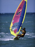 Woman Wind Surfing in the Sea Photographic Print