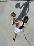 Basketball Player with Shadow Photographic Print