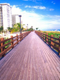 Boardwalk, South Beach, Miami, Florida, USA Photographic Print by Terry Eggers
