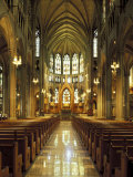 Gothic Interior of the Cathedral Basilica of the Assumption, Covington, Kentucky, USA Photographic Print by Adam Jones