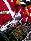Uniformed Guardsman Playing Drum, Bermuda, Caribbean Photographic Print by Robin Hill