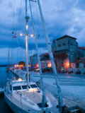 Sailboat in Harbor, Trogir, Croatia Photographic Print by Russell Young