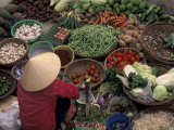 Vegetable Market, Hue, Vietnam Photographic Print by Keren Su