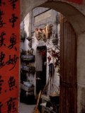 Courtyard of Huizhou-styled House with Calligraphy Couplet, China Photographic Print by Keren Su