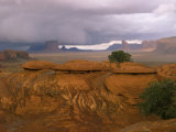 Mystery Valley with Approaching Storm, Arizona, USA Photographic Print by Joanne Wells