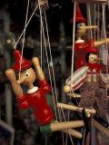 Marionette, Pinocchio Puppet, Taormina, Sicily, Italy Lámina fotográfica por Connie Ricca