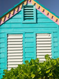 Colorful Cottage at Compass Point Resort, Gambier, Bahamas, Caribbean Photographic Print by Walter Bibikow