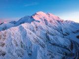 Mt. McKinley Peak, Denali National Park, Alaska, USA Fotografisk tryk af Dee Ann Pederson