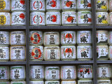 Sake Barrels, Tsuruoka Hachmangu Shrine, Kamakura, Japan Photographic Print by Rob Tilley