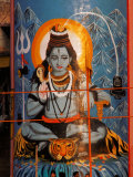 Vishnu Hindu God Mural, India Fotografie-Druck von Dee Ann Pederson