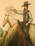 Cowboy Mural, America's Gunfight Capital, Tombstone, Arizona, USA Photographic Print by Walter Bibikow