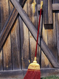 Barn Door and Broom, Montana, USA Photographic Print by Darrell Gulin