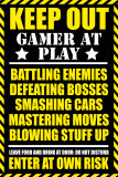 Ostrzeżenie: gracz przy komputerze, angielski Plakaty