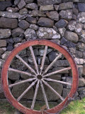 Rural Stone Wall and Wheel, Kilmuir, Isle of Skye, Scotland Photographic Print by Gavriel Jecan