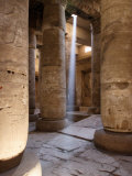 Sunlight Entering the Temple of Abydos, Egypt Photographic Print by Michele Molinari