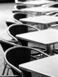 Cafe Tables, Palma, Mallorca, Spain Photographic Print by Walter Bibikow