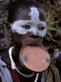 Traditional Surma Tribe Lip Plate, Ethiopia Photographic Print by Gavriel Jecan