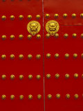 Red Gates by Forbidden City, Beijing, China Photographic Print by Walter Bibikow