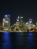 Sydney CBD at Night, Sydney Cove, Australia Photographic Print by David Wall
