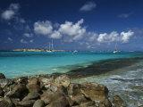 Orient Bay, St. Martin, Caribbean Fotografisk trykk av Greg Johnston
