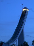 Homemkollen, built for the1952 Winter Olympic Games, Norway Fotografiskt tryck av Russell Young