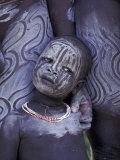 Portrait of Surma Child, Ethiopia Lámina fotográfica por Gavriel Jecan