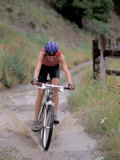 Mountain Biking in Boulder, Colorado, USA Photographic Print by Lee Kopfler