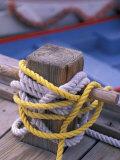 Knots Around Post, St. Thomas, Caribbean Fotografie-Druck von Robin Hill