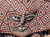 Painted Geometric Mask, Zimbabwe Photographic Print by Claudia Adams