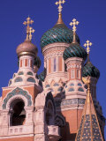 Russian Orthodox Cathedral in Nice, Cote D'Azur, France Photographic Print by Nik Wheeler