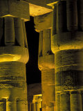 Lotus Columns of the Luxor Temple, Egypt Photographic Print by Claudia Adams