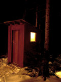 Outhouse at the Sub Sig Outing Club's Dickerman Cabin, New Hampshire, USA Photographic Print by Jerry & Marcy Monkman