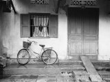 House and Bicycle, Hanoi, Vietnam Photographic Print by Walter Bibikow