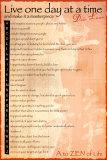 Levenswijsheden Dalai Lama, Engelse tekst: A to Zen life Poster