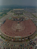 An Overhead Aerial View of the Crowd at Jfk Stadium Photographic Print