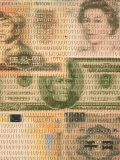 International Currencies with Binary Code Photographic Print by Carol &amp; Mike Werner