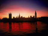 Houses of Parliament at Dusk, London, England Photographic Print by Terry Why