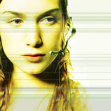 Young Caucasian Woman with Technology Photographic Print